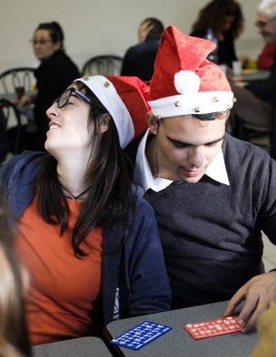 I ragazzi di Si può fare alla tombolata di Natale nel 2018